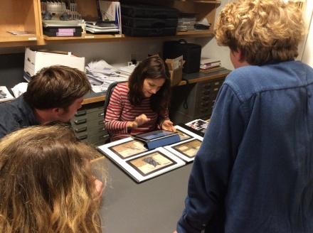 Aaron at B&A reviewing Sarah Goddard's portfolio