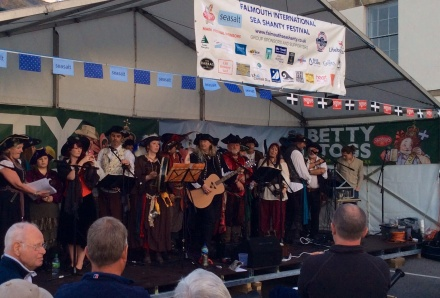 The Falmouth sea shanty festival stage