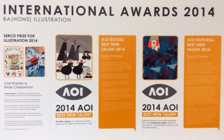 214 AOI award winners from falmouth