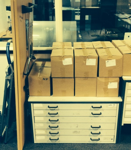 Boxes of Quotes 9 books ready to be loaded