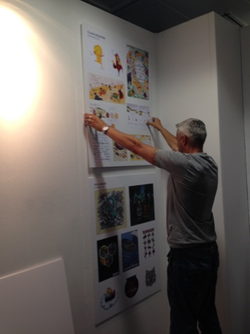 Mark hanging new Designers show