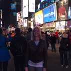 Keryn in Times Square