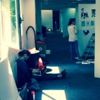 Degree show set up in progress