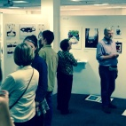 A busy evening at the Falmouth Illustration PV