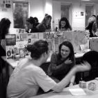 1st year Falmouth illustration students during induction week