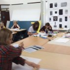 Students taking part in the Big Draw