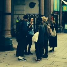 Outside Penguin Books
