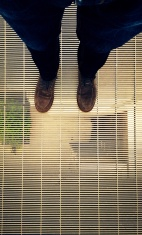 The Author's feet floating 50m above the ground