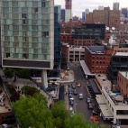 View of the High Line from the Whitney