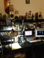 Pete Fowler's studio set up, East London
