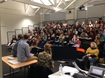 Falmouth University 1st yr Illustration Forum held for the 1st time at Goldsmith's University, East London